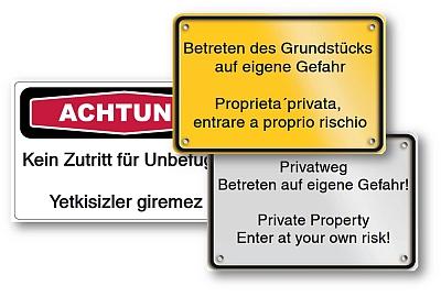 Mehrsprachige Schilder